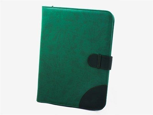 Portafolio A4 en piel de dos tonos