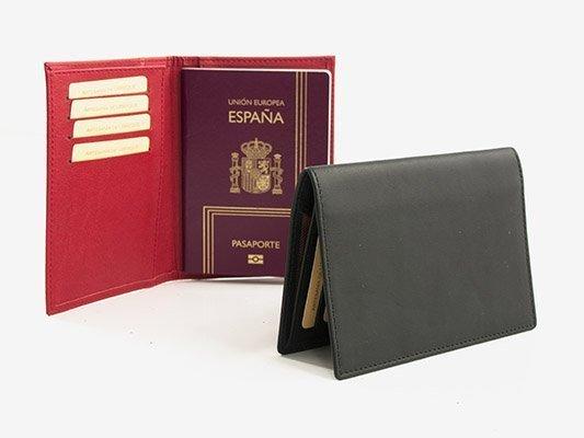 Funda para pasaporte en piel