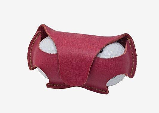 Porta bolas de golf en piel con cierre de imán